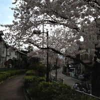 Photo taken at 蛇崩緑道 by Manabu T. on 4/7/2012