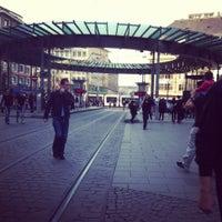 Photo taken at Place de l'Homme de Fer by tom b. on 4/13/2012
