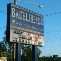 Photo taken at Bagelheads by Paula K. on 4/16/2012