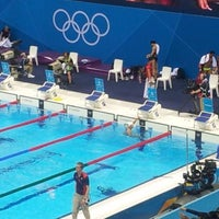 Photo taken at London 2012 Aquatics Centre by USA TODAY on 7/28/2012