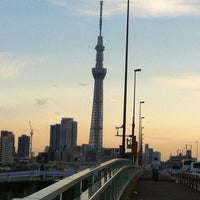 Photo taken at 四つ木橋 by Saki A. on 5/4/2012