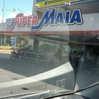 Photo taken at Super Maia Supermercados by Manoel S. on 7/1/2012