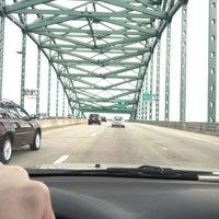 Photo taken at Piscataqua River Bridge by Craig B. on 4/8/2012