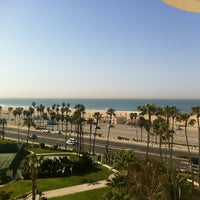 Photo taken at The Waterfront Beach Resort, a Hilton Hotel by Sandra B. on 4/7/2012