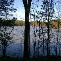 Photo taken at Lake Johnson by Tamara N. on 3/11/2012