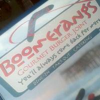Photo taken at Boomerangs Gourmet Burger Joint by Joe O. on 3/3/2012