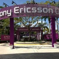 Photo taken at Crandon Tennis Center by Chantal C. on 3/18/2012