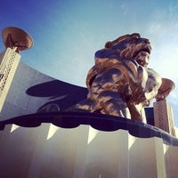 Photo taken at MGM Grand Lion Statue by Mike F. on 2/15/2012