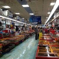 Photo taken at Jagalchi Fish Market by Jang H. on 4/21/2012