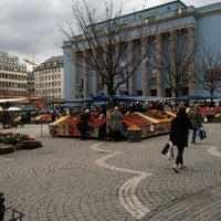 Photo taken at Hötorget by Elin J. on 4/18/2012