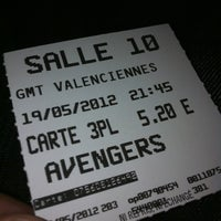 Photo taken at Gaumont Valenciennes by David on 5/19/2012