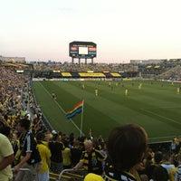 Photo taken at MAPFRE Stadium by Alberto R. on 8/26/2012