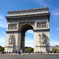 Photo taken at Arc de Triomphe by Val G. on 9/1/2012