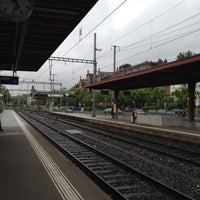 Photo taken at Bahnhof Zürich Tiefenbrunnen by Lea G. on 6/12/2012