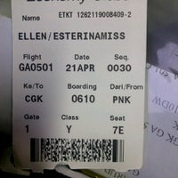 Photo taken at Supadio Airport Gate 1 by Esterina E. on 4/20/2012