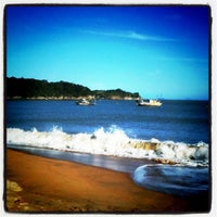 Photo taken at Praia Do Cemitério by gabi g. on 8/3/2012