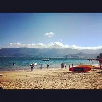 Photo taken at Praia do Curral by Tiago N. on 8/19/2012
