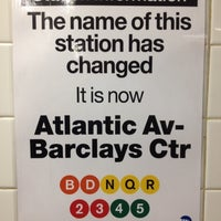 Photo taken at MTA Subway - Atlantic Ave/Barclays Center (B/D/N/Q/R/2/3/4/5) by Jefferies H. on 5/30/2012