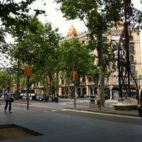 Photo taken at Passeig de Gràcia by Prunceska on 5/28/2012