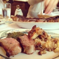 Photo taken at Peter Luger Steak House by don k. on 4/22/2012