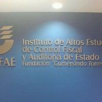 Photo taken at COFAE Instituto De Altos Estudios De Control Fiscal Y Auditoría De Estado by Emily ·. on 3/7/2012