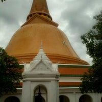 Photo taken at Wat Phra Pathom Chedi by Ann A. on 7/1/2012