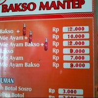 Photo taken at Bakso Mantep, ragunan by Neela O. on 5/26/2012