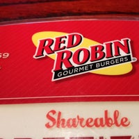 Photo taken at Red Robin Gourmet Burgers by Adrian G. on 3/29/2012