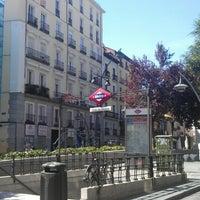 Photo taken at Plaza de Tirso de Molina by Alex G. on 9/12/2012
