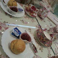 Photo taken at Victoria Rossa English Tea Room by Caryn T. on 8/27/2012