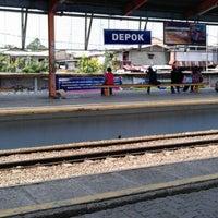 Photo taken at Stasiun Depok Lama by kun s. on 5/26/2012