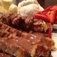 Photo taken at Max Brenner Chocolate Bar by Marie B. on 6/4/2012