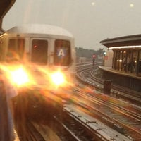 Photo taken at MTA Subway - Rockaway Blvd (A) by Karen K. on 7/18/2012