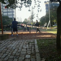 Photo taken at Praça Libanesa by Luan S. on 6/23/2012