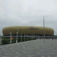 Photo taken at Stadion Energa Gdańsk by Mateusz J. on 7/3/2012