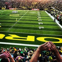 Photo taken at Autzen Stadium by Lane M. on 9/2/2012