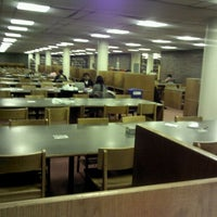 Photo taken at Mugar Library by wootae k. on 5/3/2012