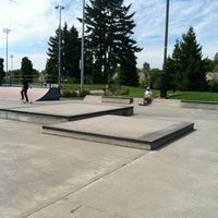 Photo taken at Tualatin Hills Skate Park by Tucker on 8/20/2012