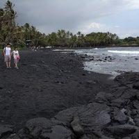 Photo taken at Punalu'u Black Sand Beach by Tim C. on 5/24/2012