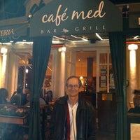 Photo taken at Cafe Med by Steve P. on 4/20/2012
