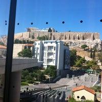 Photo taken at Cafe & Restaurant at Acropolis Museum by Manoel J. on 8/21/2012