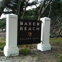 Photo taken at Baker Beach by Stefani T. on 7/24/2012