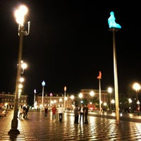 Photo taken at Place Masséna by Vera I. on 9/12/2012