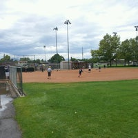 Photo taken at Community Baseball Fields by Jacob Barlow on 7/14/2012