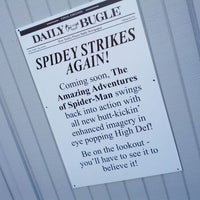 Photo taken at The Amazing Adventures of Spider-Man by Orlando Informer on 2/15/2012