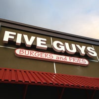 Photo taken at Five Guys by Felice L. on 4/19/2012