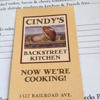 Photo taken at Cindy's Backstreet Kitchen by Ken N. on 4/8/2012
