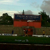 Photo taken at Stadion Mulawarman by Ilham U. on 7/7/2012