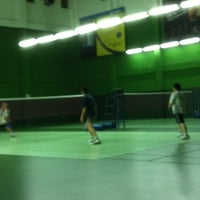 Photo taken at BJGCR Badminton Court by Kim Seng C. on 2/21/2012