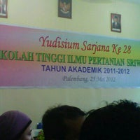 Photo taken at Kampus STIPER SRIWIGAMA by Elong N. on 5/25/2012